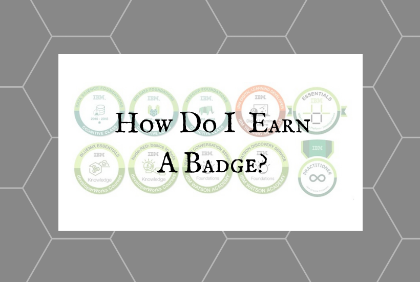 How Do I Earn A Badge?