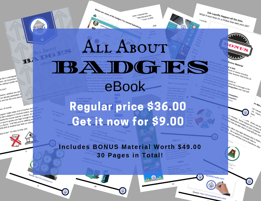 All About Badges eBook-Regular price $36. Get it now for $9.00. Includes Bonus Material worth $49.00. 30 Pages in Total!