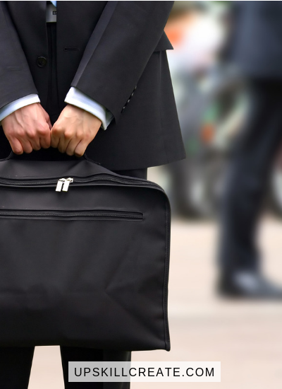 Job Security: How to Avoid Becoming Obsolete (picture of man holding brief case