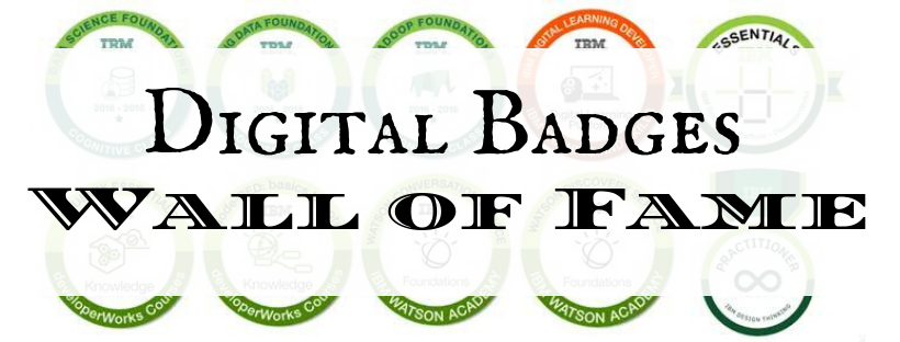 Digital Badges Wall of Fame