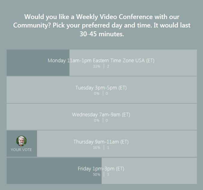 video conference poll